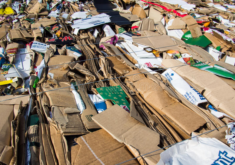 Download Recycled cardboard boxes editorial stock image. Image of boxes - 33135329