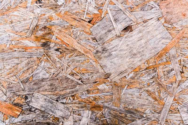 Recycled compressed wood chippings board background stock photos
