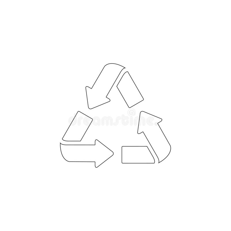 Recycled cycle arrows. flat vector icon. Recycled cycle arrows. simple flat vector icon illustration. outline line symbol - editable stroke vector illustration