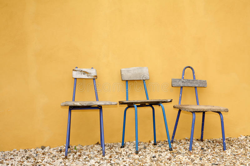 Recycled Design Chairs stock image