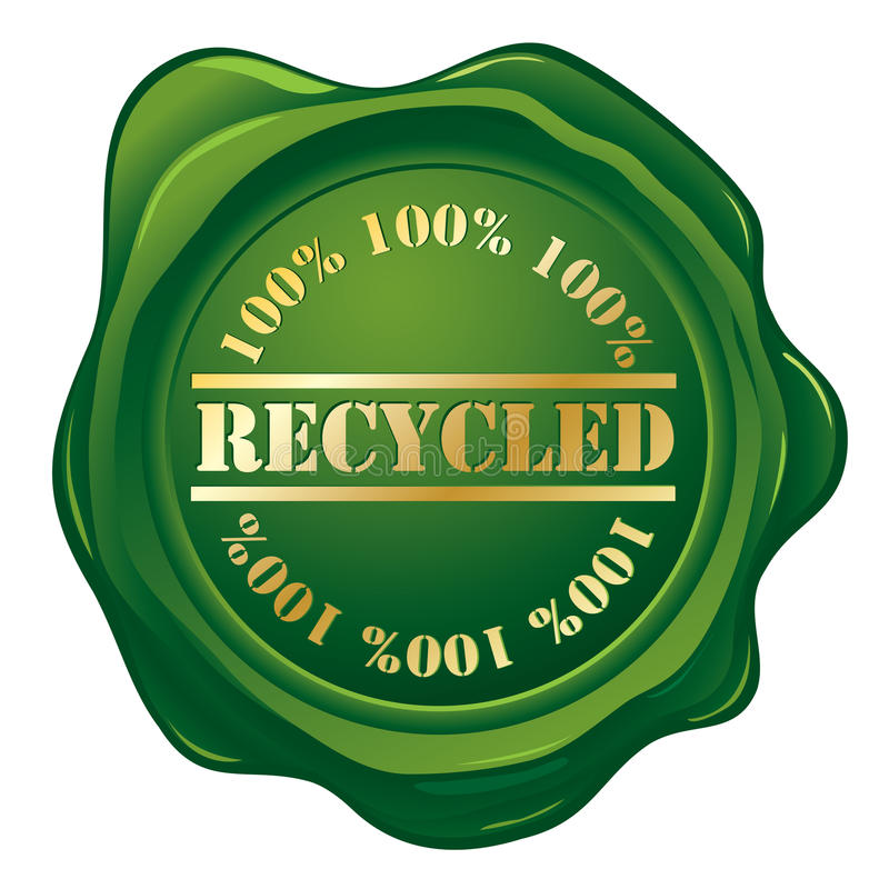 Recycled green stamp vector illustration