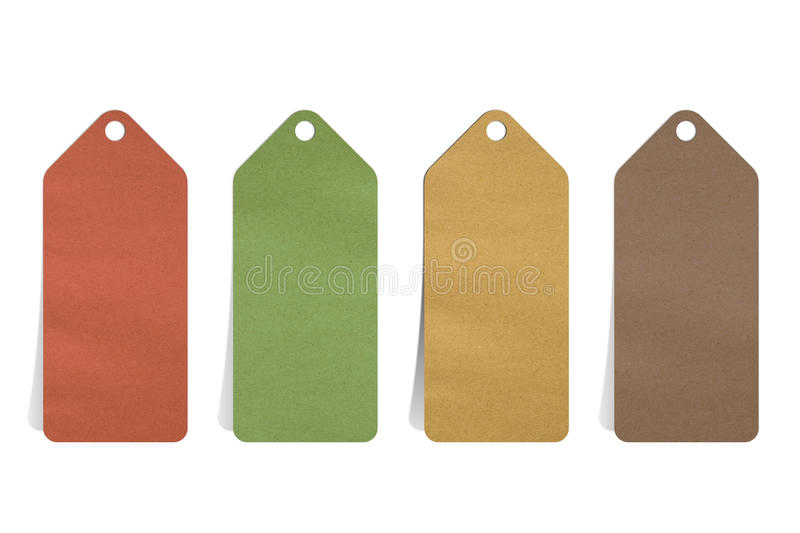 Recycled paper blank price tag stock photography