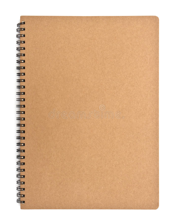 Download Recycled Paper Notebook Front Cover Stock Image - Image of document, object: 39509519