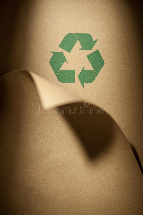 Recycled paper stock photography