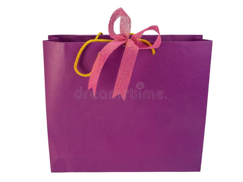 Recycled paper shopping bags. clipping path stock photography