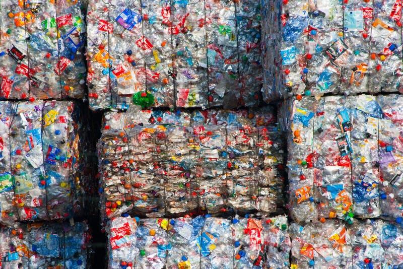 Recycled plastic stock photo