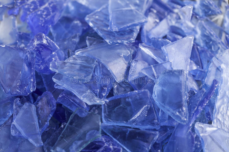Recycled plastic polymers out of PET water bottle royalty free stock image