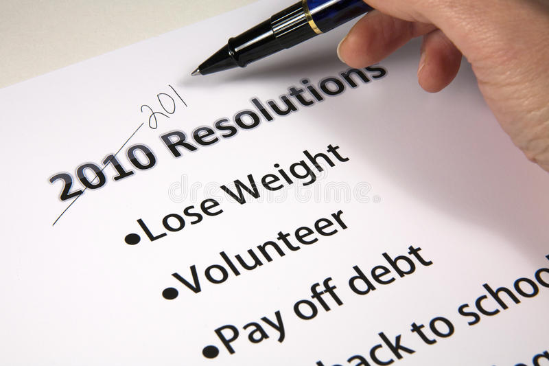 Recycled Resolutions royalty free stock photo