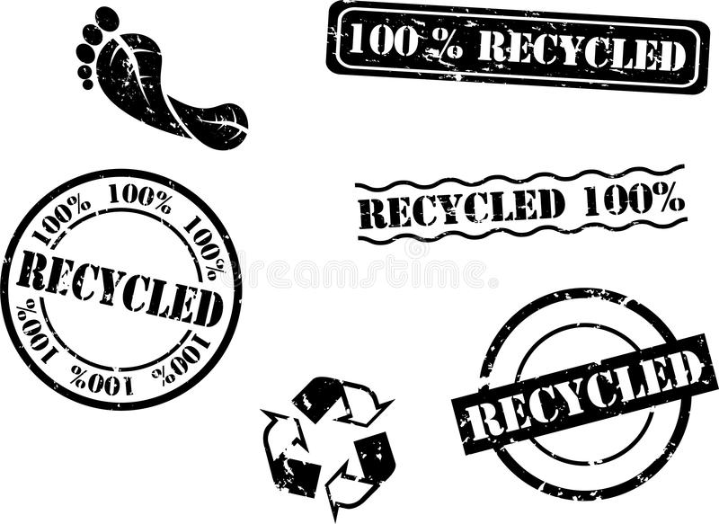 Download Recycled Rubber Stamps stock vector. Image of green, design - 14857614
