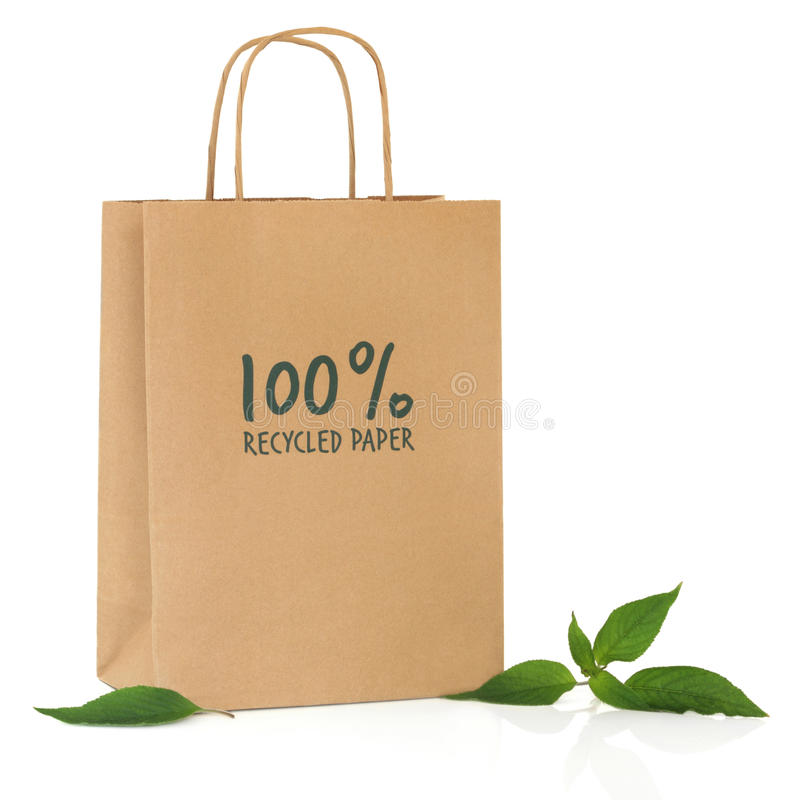 Download Recycled Shopping Bag stock photo. Image of brown, commercial - 17829362