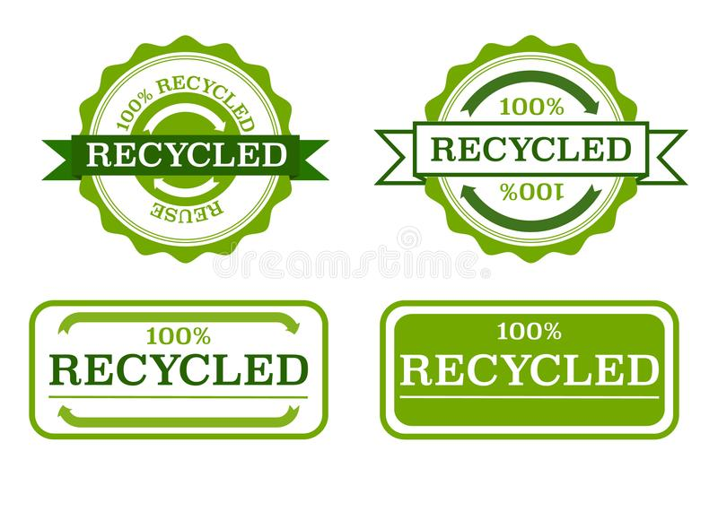 Recycled stamps vector illustration
