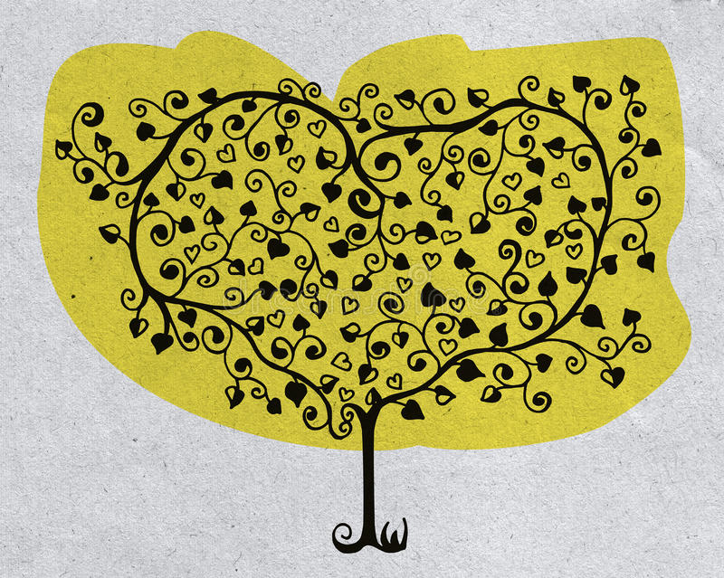 Recycled tree love royalty free stock photography