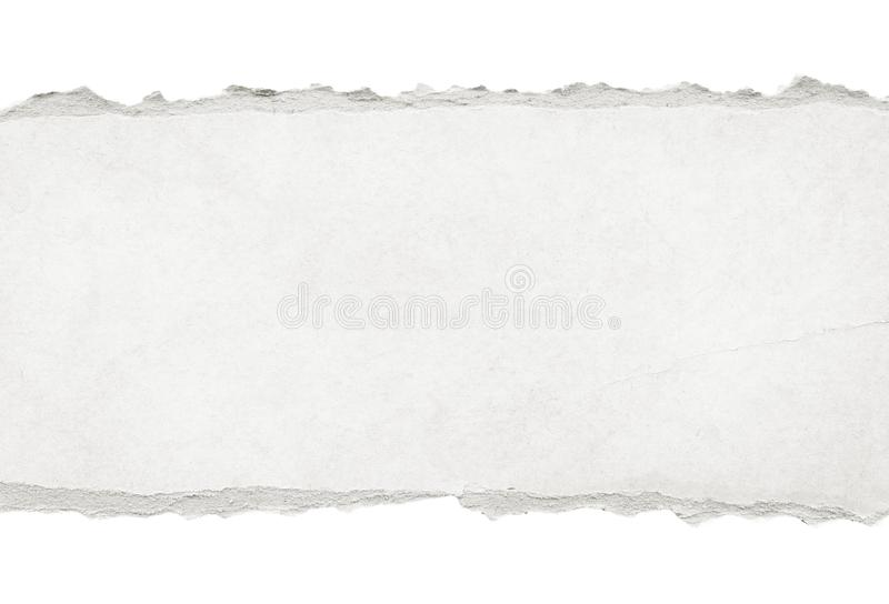 Recycled white torn horizontal note paper texture, light background. Recycled white torn horizontal note paper texture, light background royalty free stock photography