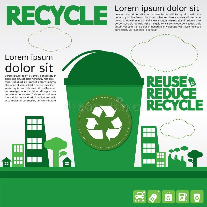 Recycleer. vector illustratie
