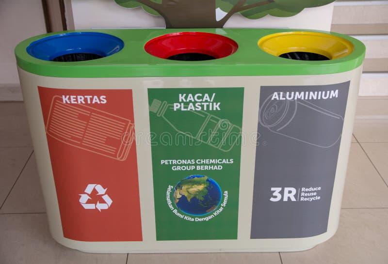 Recycleer bak royalty-vrije stock foto
