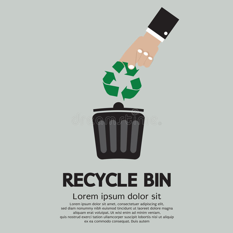 Recycleer Bak vector illustratie