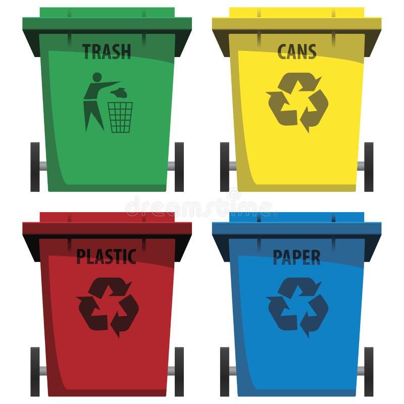 Recycleer bakken vector illustratie