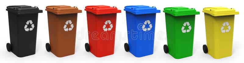 Recycleer bakken stock afbeelding