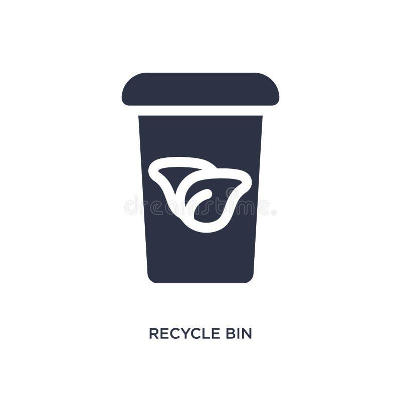Recycleer bakpictogram op witte achtergrond Eenvoudige elementenillustratie van ecologieconcept stock illustratie