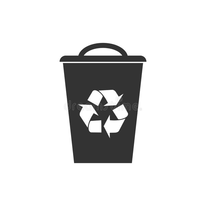Recycleer bakPictogram Vectorillustratie, vlak ontwerp vector illustratie