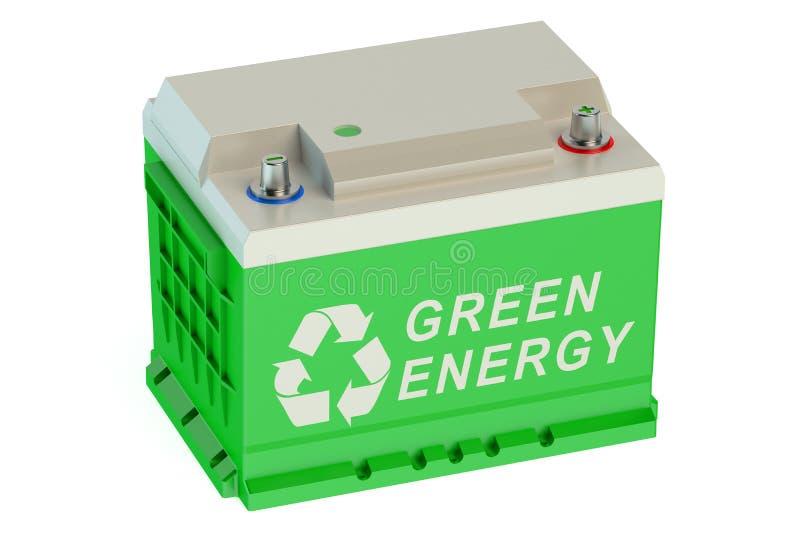 Recycleer batterijauto royalty-vrije illustratie
