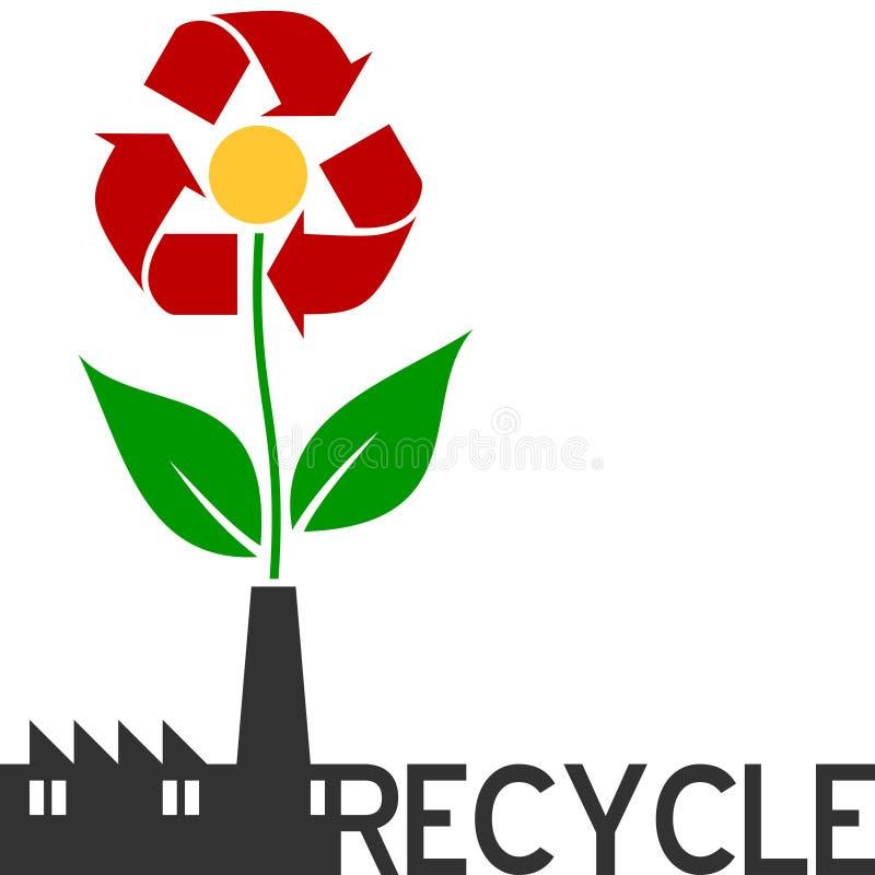 Recycleer Bloem stock illustratie