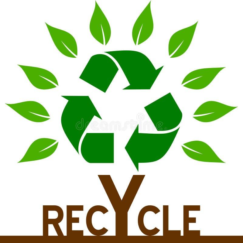 Recycleer Boom stock illustratie