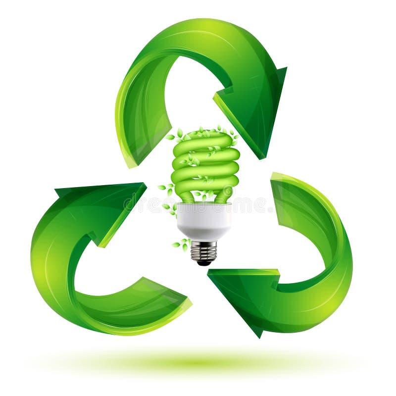 Recycleer cfl royalty-vrije illustratie