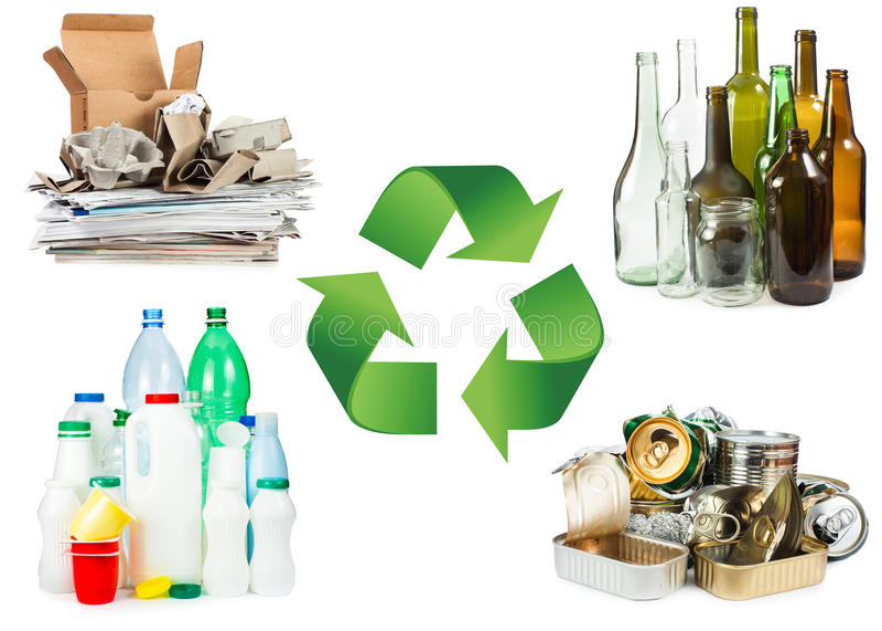 Recycleer concept royalty-vrije stock foto