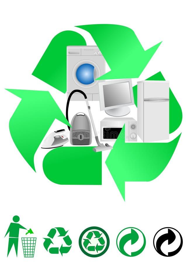 Recycleer concept vector illustratie