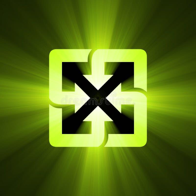 Recycleer de gloed van het symbool groene licht royalty-vrije illustratie