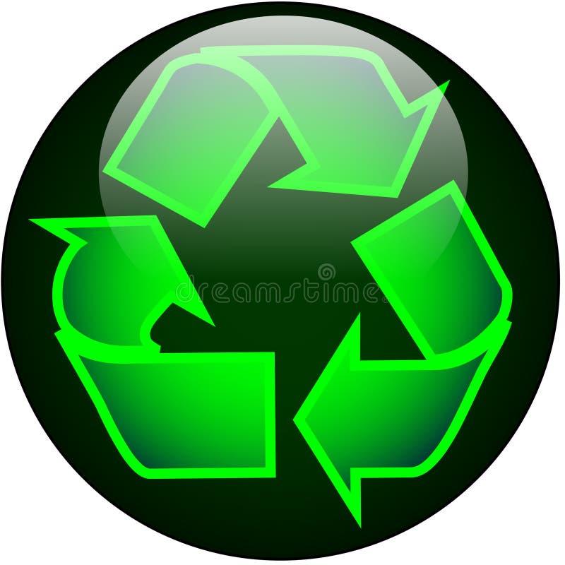 Recycleer de Knoop van het Web vector illustratie