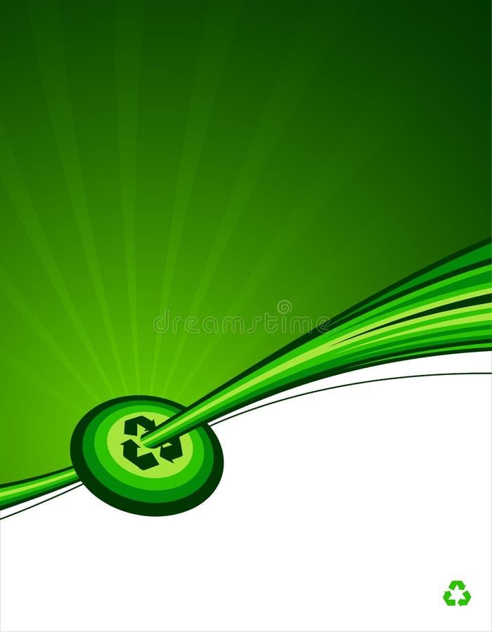 Recycleer doelachtergrond vector illustratie