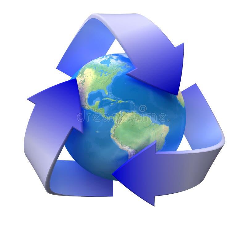 Recycleer ecologie stock afbeelding