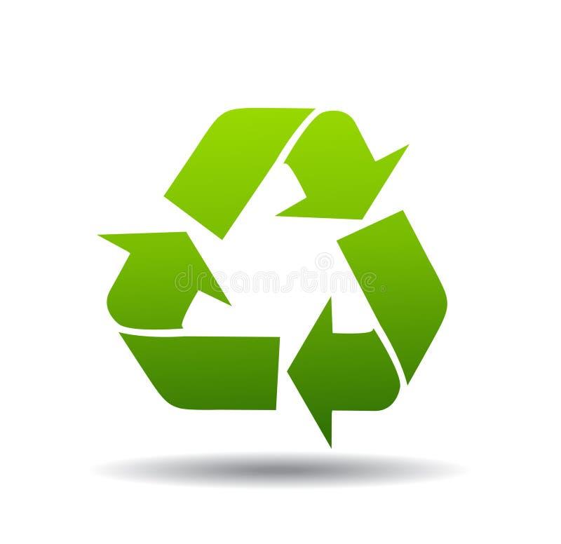 Recycleer Embleem stock illustratie