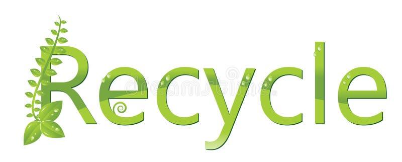 Recycleer embleem (bescherm het milieu) stock illustratie