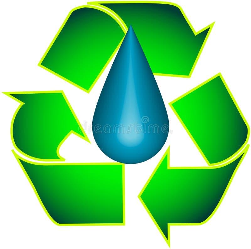 Recycleer en Druppeltje royalty-vrije illustratie