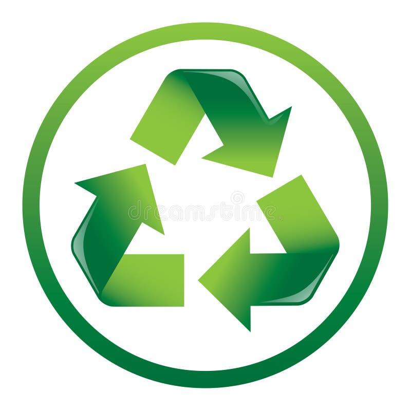 Recycleer het Pictogram van Pijlen royalty-vrije illustratie