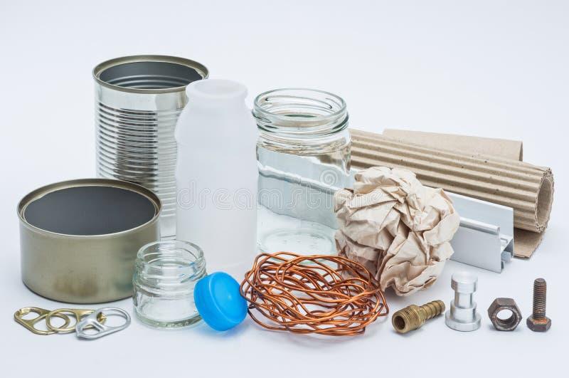 Recycleer materiaal royalty-vrije stock afbeeldingen