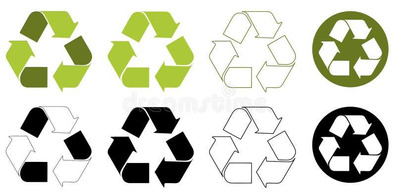 Recycleer milieuembleem royalty-vrije illustratie