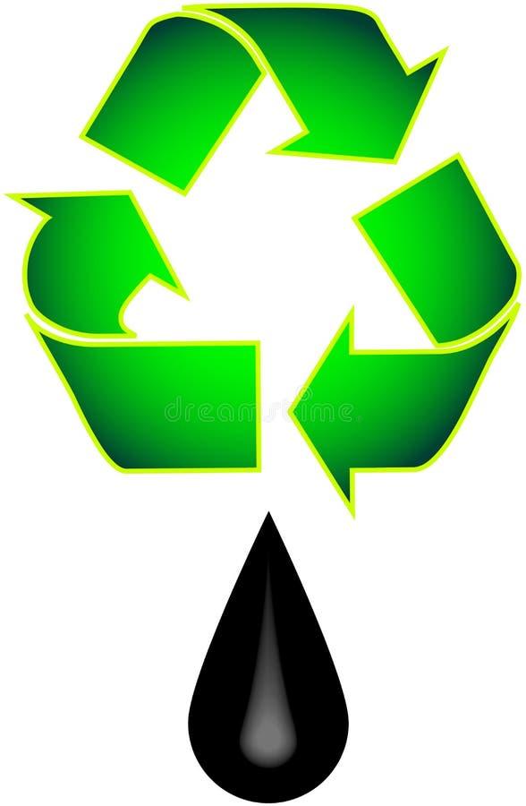 Recycleer Olie stock illustratie