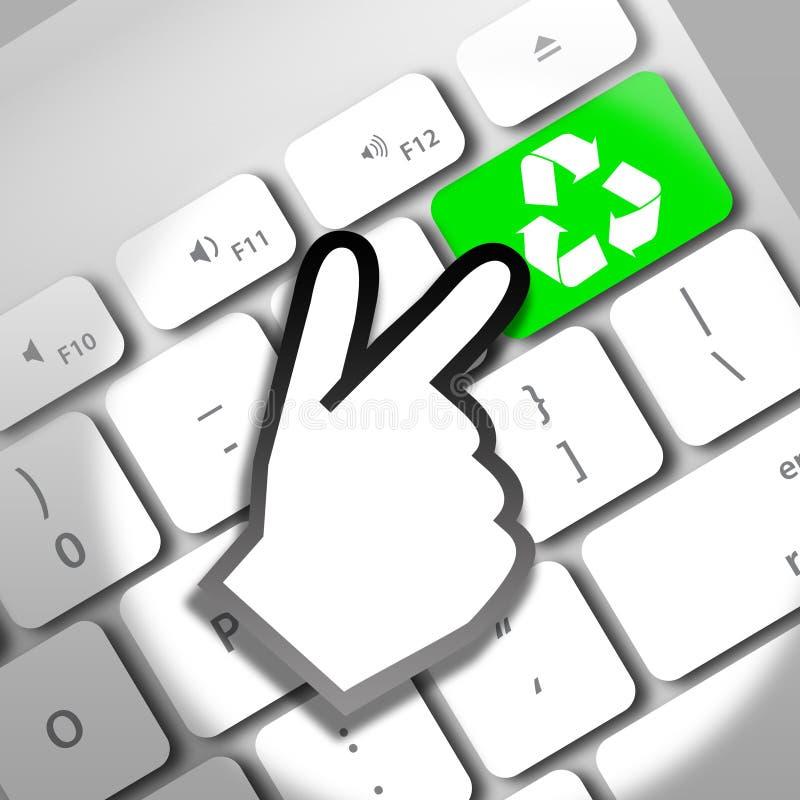 Recycleer online toetsenbord stock illustratie