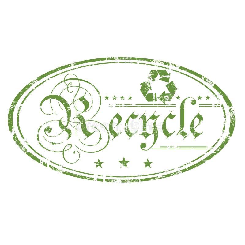 Recycleer ovale zegel royalty-vrije illustratie