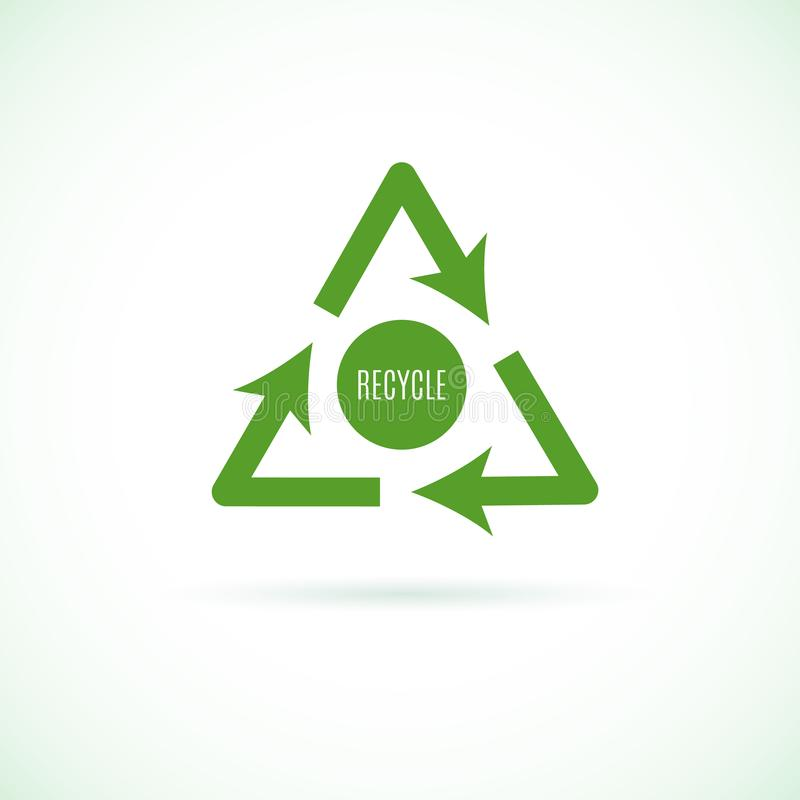Recycleer pictogram stock illustratie