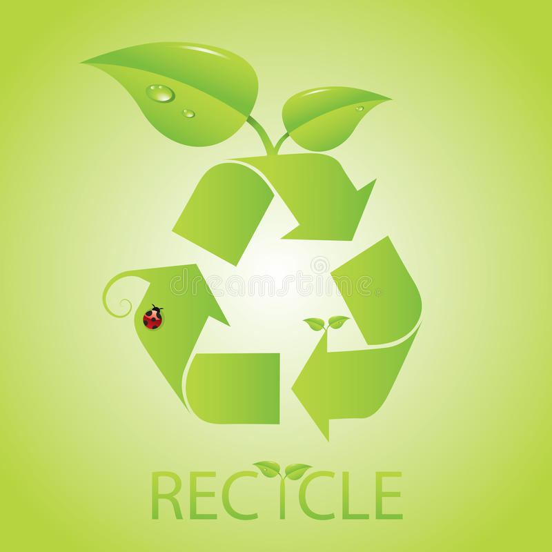 Recycleer Pictogram vector illustratie