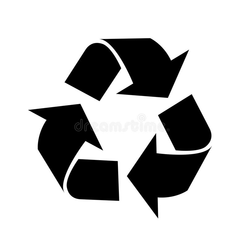 Recycleer pictogram-vector iconisch ontwerp royalty-vrije illustratie