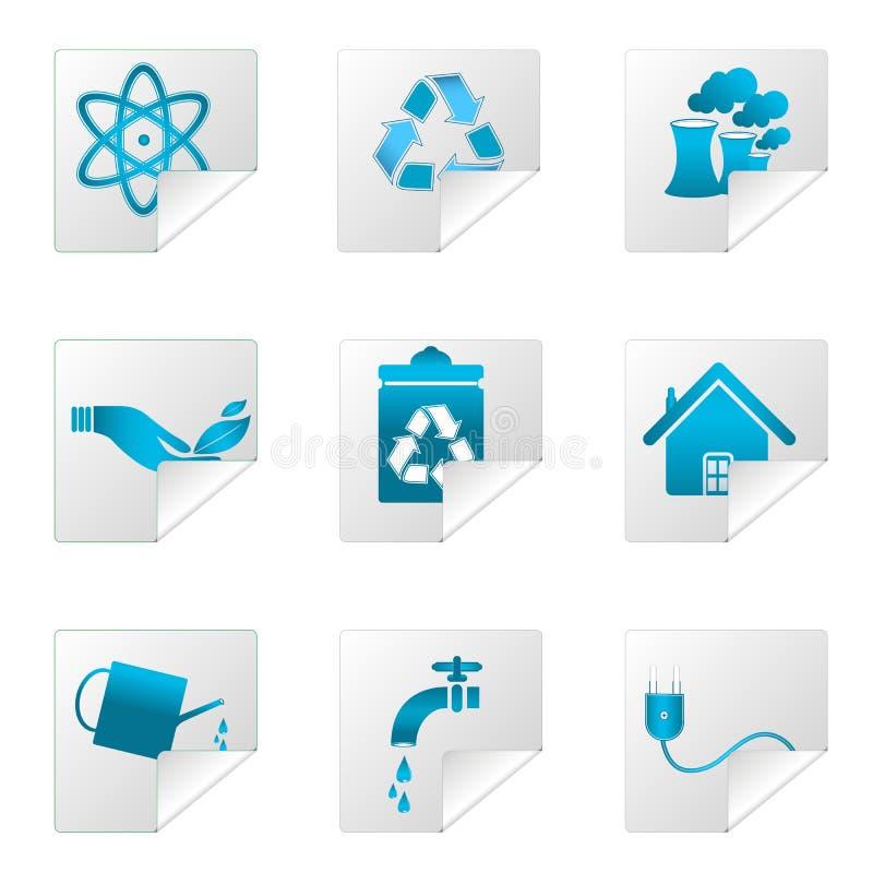 Recycleer pictogrammen royalty-vrije illustratie