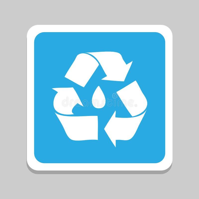 Recycleer pictogrammen geplaatst voor om het even welk gebruik groot Vector eps10 royalty-vrije illustratie