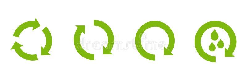Recycleer pictogramvector Recycleer vector van het Recyclings de vastgestelde symbool royalty-vrije illustratie