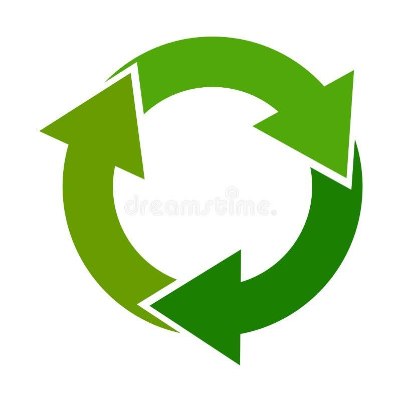 Recycleer pijlteken vector illustratie